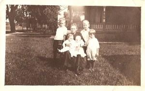Matilda Foreman with her Grandchildren