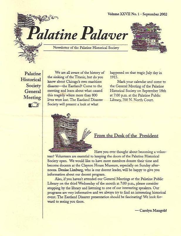 Palatine Palaver 2002
