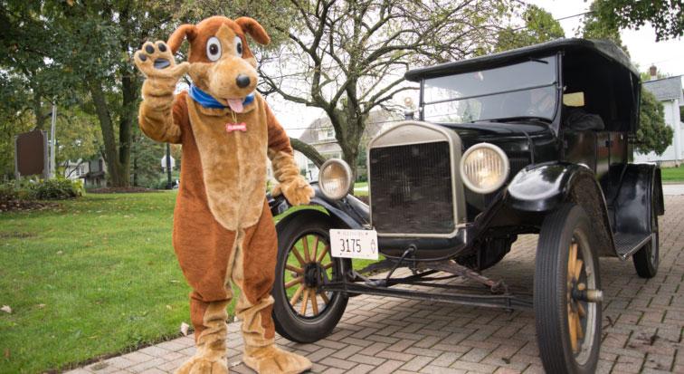 Clayson with car